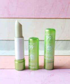 Tanako Aloe Vera 99% Soothing Gel Color change Pink lipstick moisturizing