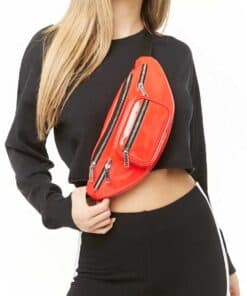 Forever 21 Faux Patent Leather Fanny Pack