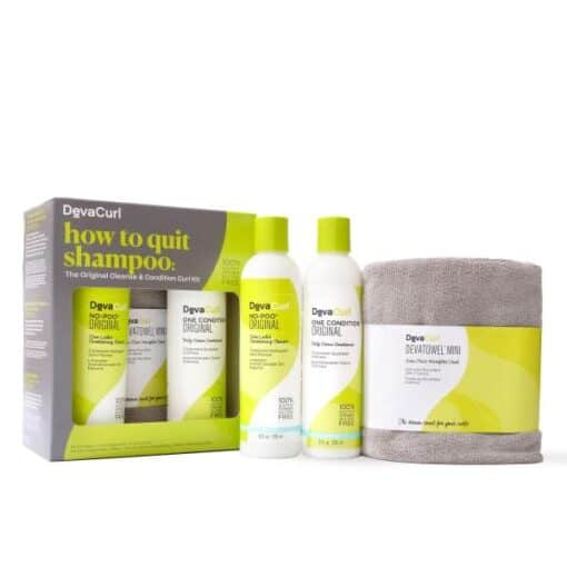 Devacurl how to quit shampoo kit Cleanse & Condition Curl Kit
