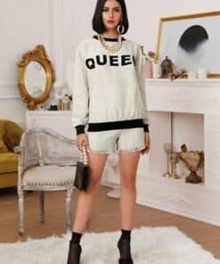 Shein Frayed Trim Tweed Shorts