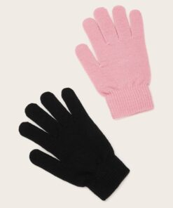 Shein 2pairs Solid Knit Gloves