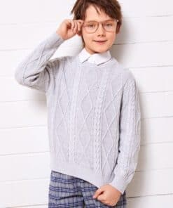SHEIN Boys Cable Knit Sweater
