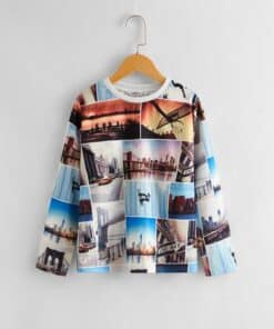 SHEIN Boys Picture Print Tee