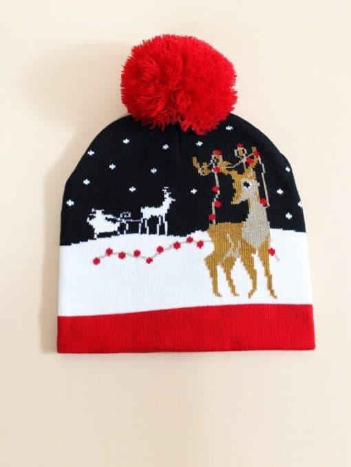 Shein Christmas Pattern Beanie