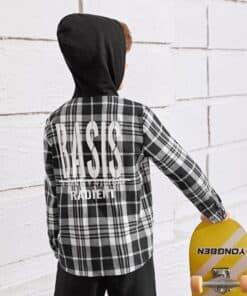 SHEIN Boys Pocket Front Plaid Shirt