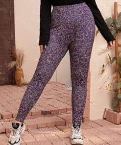 Shein Plus High Waist Space Dye Leggings