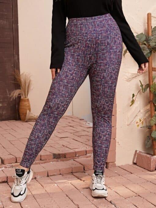 Shein Plus High Waist Space Dye Leggings