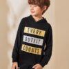 SHEIN Boys Slogan Graphic Hoodie