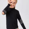 SHEIN Girls Rhinestone Cut Out Detail Sweater