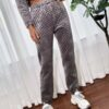 Shein Diamond Quilted Velvet Sweatpants