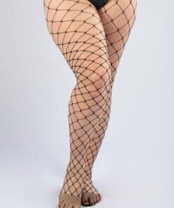 SHEIN Plus Hollow Out Fishnet Tights