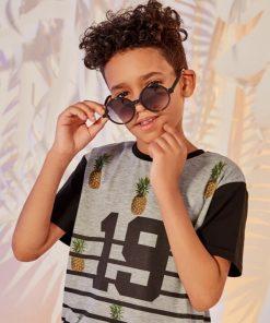 Shein Kids Round Frame Sunglasses