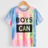 SHEIN Boys Tie Dye Letter Graphic Tee