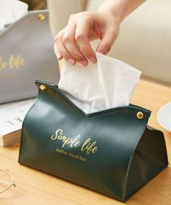 Shein 1pc PU Tissue Storage Bag