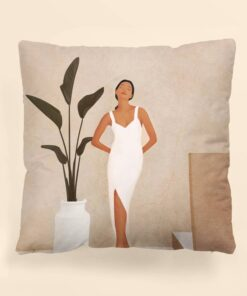 Shein Figure Graphic Cushion Cover Without Filler