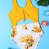 Shein Girls Palm Leaf Print One Piece Swimsuit