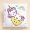 Shein Kids Cartoon Unicorn Print Cushion Cover Without Filler