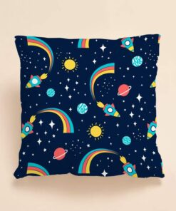Shein Kids Planet Print Cushion Cover Without Filler