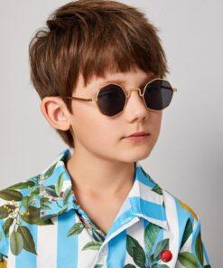 Shein Kids Polygon Frame Sunglasses