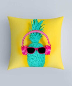 Shein Pineapple Print Cushion Cover Without Filler