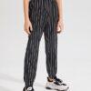 SHEIN Boys Knot Waist Striped Pants