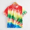 SHEIN Boys Tie Dye Polo Shirt