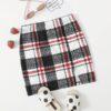 SHEIN Girls Plaid Split Hem Skirt