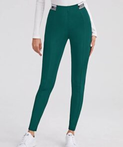 SHEIN Letter Tape High Waisted Leggings
