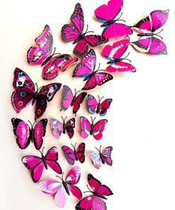 Shein 12pcs 3D Butterfly Shaped Wall Sticker