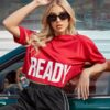 Shein Letter Graphic Drop Shoulder Sports Tee