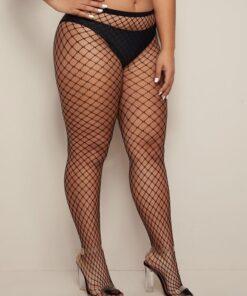 Shein Plus Fishnet Overlay Stockings