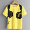 SHEIN Boys Headset Print Top