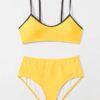 SHEIN Contrast Binding Bikini Swimsuit