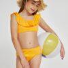 SHEIN Girls Ruffle Trim Bikini Swimsuit