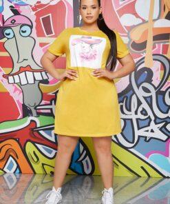SHEIN Plus Figure Print Dress
