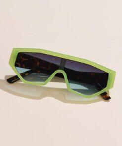 Shein Flat Top Shield Sunglasses
