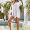 Shein V-neck Guipure Lace Cover Up Dress