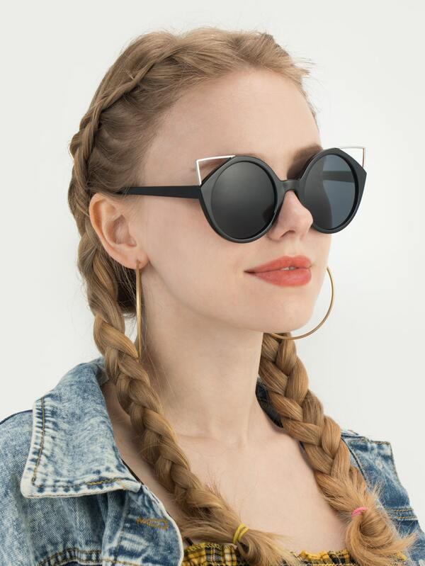 SHEIN Cat Eye Sunglasses With Case