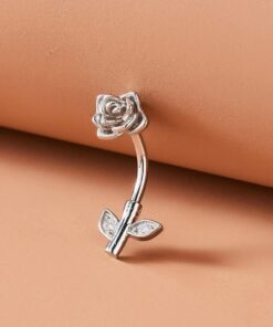 SHEIN Flower Shaped Belly Ring