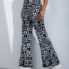 SHEIN Letter Graphic Flare Leg Pants