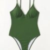 Shein Solid Cami One Piece Swimsuit