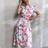 SHEIN Allover Floral Criss Cross A-line Dress