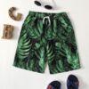 SHEIN Boys Tropical Print Drawstring Waist Shorts