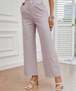 SHEIN Button Fly Wide Leg Pants