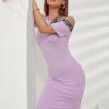 SHEIN Letter Graphic Asymmetrical Neck Dress