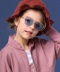 SHEIN Toddler Kids Metal Frame Sunglasses