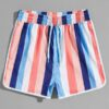 Shein Striped Drawstring Bikini Shorts