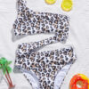 Shein Toddler Girls Leopard Cut-out One Shoulder One Piece Swimsuit
