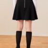 SHEIN Girls High Waist Zip Back Flare Skirt