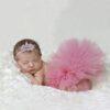 Newborn Girl Photography Mesh Skirt & Headband
